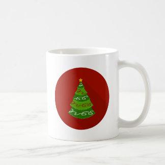Caneca De Café Árvore de Natal lisa do design