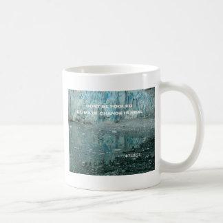 Caneca De Café As alterações climáticas são geleira de