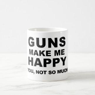 Caneca De Café As armas fazem-me o café feliz por mini irmãos