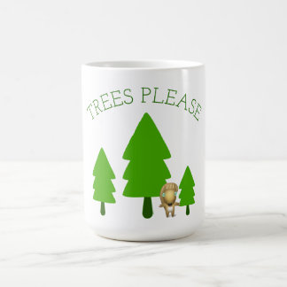Caneca De Café As árvores satisfazem