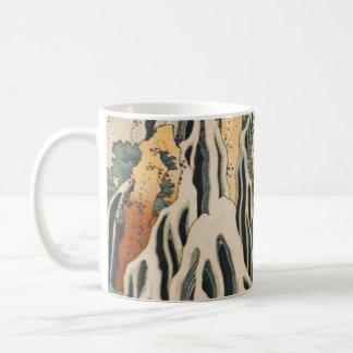 Caneca De Café As cachoeiras Kirifuri de Hokusai