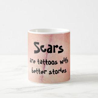 Caneca De Café As cicatrizes são tatuagens com melhores histórias