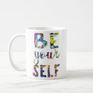 Caneca De Café As citações inspiradores sejam você mesmo