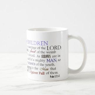 Caneca De Café As crianças do salmo 127 são herança do senhor