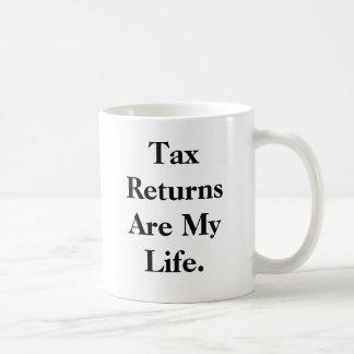 Caneca De Café As declarações de rendimentos são minha vida…. -