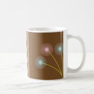 Caneca De Café As flores bonito e as listras dos dentes-de-leão