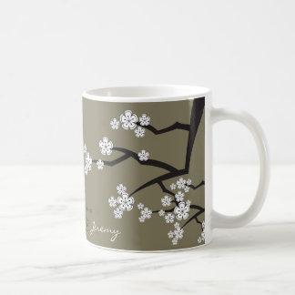 Caneca De Café As flores de cerejeira orientais Sakura branco