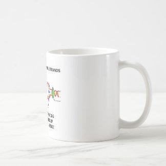 Caneca De Café As ideias são como as costas do ADN que conduzem &