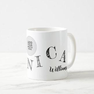 Caneca De Café as letras escritas à mão de seu nome refrigeram a