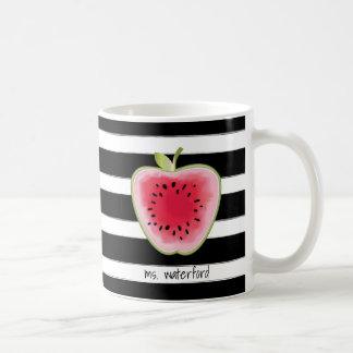 Caneca De Café As listras de Apple da melancia personalizaram o