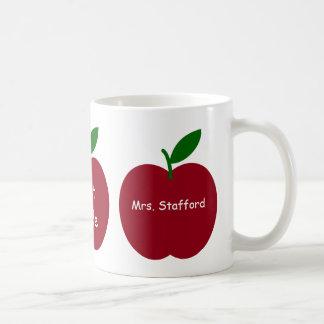 Caneca De Café As maçãs do professor personalizadas