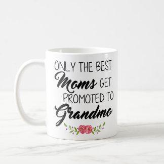Caneca De Café As melhores mães obtêm promovidas ao Grandam