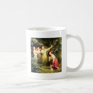 Caneca De Café as meninas escondem no pântano