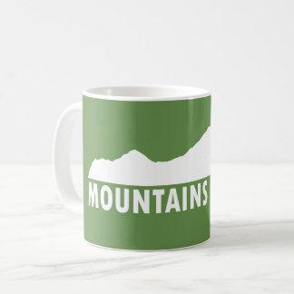Caneca De Café As montanhas satisfazem