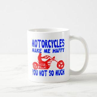 Caneca De Café As motocicletas fazem-no me feliz não tanto