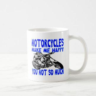 Caneca De Café As motocicletas fazem-no me feliz não tanto 2