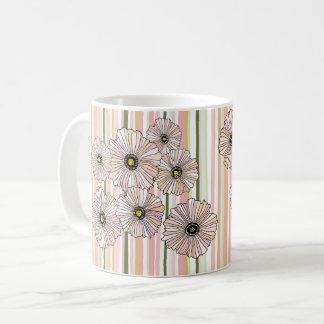 Caneca De Café As papoilas pastel do primavera agridem, coram e