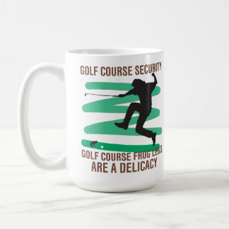 Caneca De Café As pernas de sapo da segurança do campo de golfe
