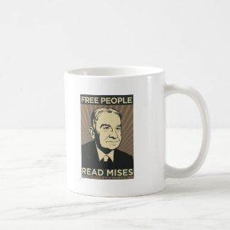 Caneca De Café As pessoas livres leram Mises