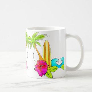 Caneca De Café As ressacas levantam impressões tropicais