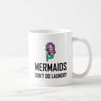 Caneca De Café As sereias não fazem a lavanderia