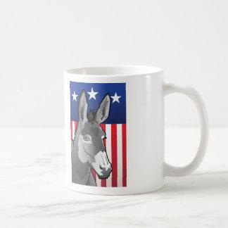 Caneca De Café Asno dos EUA, orgulho de Democrata