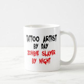 Caneca De Café Assassino do zombi do artista do tatuagem