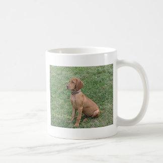 Caneca De Café Assento do filhote de cachorro de Vizsla