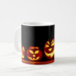 Caneca De Café Assustador de outubro da Jack-O-Lanterna do Dia