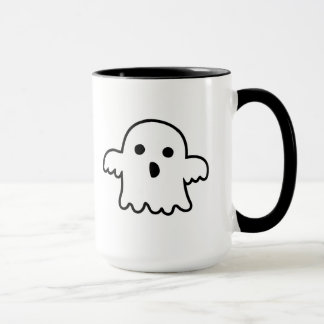 Caneca de café assustador do fantasma da menina do