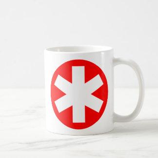 Caneca De Café Asterisco - vermelho