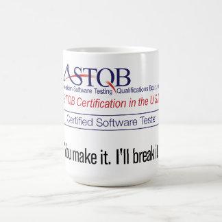Caneca De Café ASTQB certificou o verificador que do software