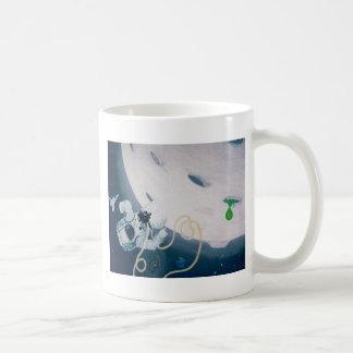 Caneca De Café Astronauta e lua