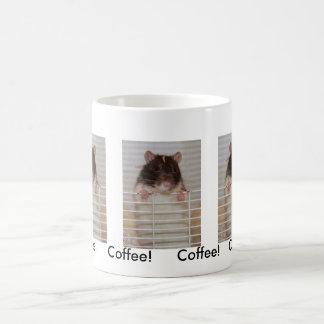 Caneca De Café Atenção de querer encapuçado de Rattie