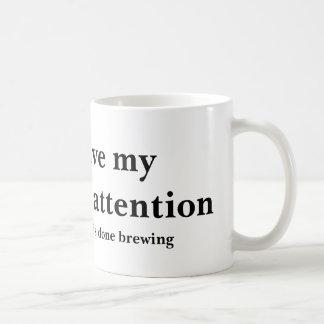 Caneca De Café Atenção indivisível