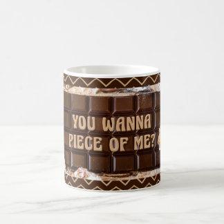 Caneca De Café Atitude do chocolate, você quer remendar de mim?