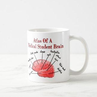 Caneca De Café Atlas do cérebro da estudante de Medicina