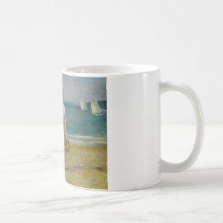 Caneca De Café Auguste Renoir - figuras na praia