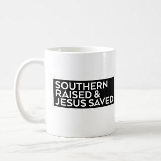 Caneca De Café Aumentado do sul & Jesus salvar