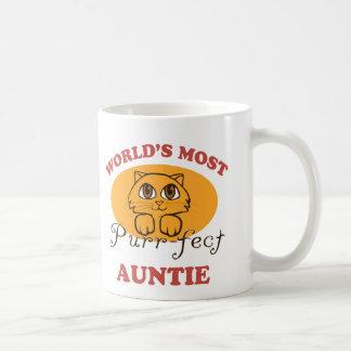 Caneca De Café Auntie do purr-fect