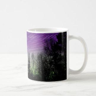 Caneca De Café Aurora boreal - Aurora Borealis - fugas da estrela
