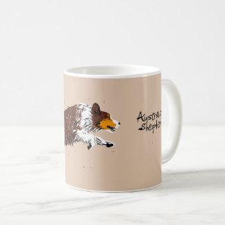 Caneca De Café Australian Shepherd, aos pulinhos, conversas tri