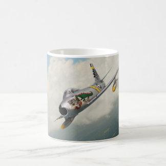 """Caneca De Café Aviation Art Mug """"F-86 Sabre"""""""