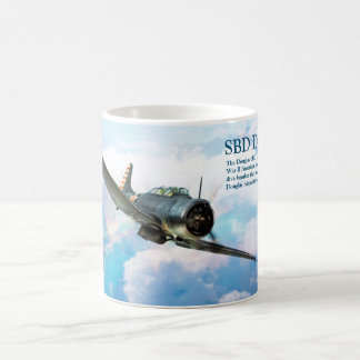 """Caneca De Café Aviation Art Mug """"SBD Dauntless"""""""
