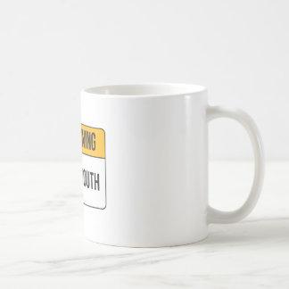 Caneca De Café Aviso - boca do Potty