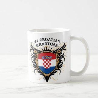 Caneca De Café Avó croata do número um