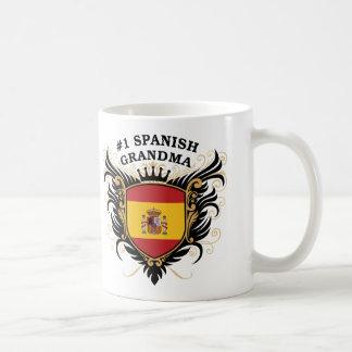 Caneca De Café Avó espanhola do número um