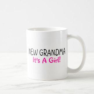 Caneca De Café Avó nova sua um rosa da menina