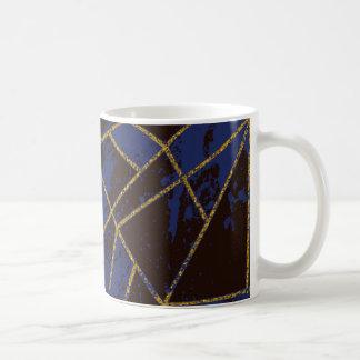 Caneca De Café Azul #941 abstrato