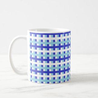 Caneca De Café Azul abstrato do azul, o branco e o Pastel